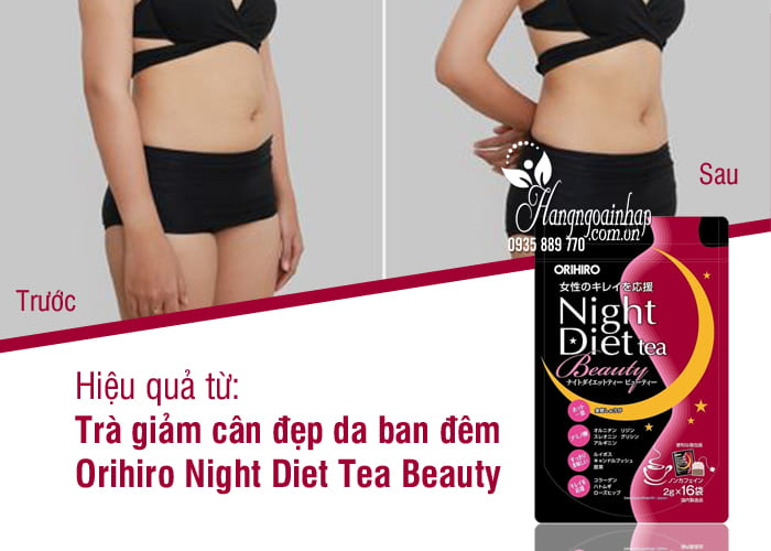 Trà giảm cân đẹp da ban đêm Orihiro Night Diet Tea Beauty 8
