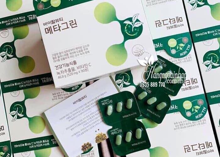 Viên giảm cân trà xanh Meta Green Vital Beautie Hàn Quốc 1