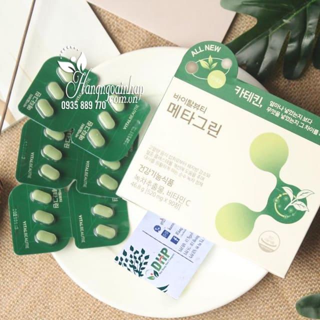 Viên giảm cân trà xanh Meta Green Vital Beautie Hàn Quốc 6
