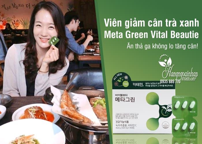 Viên giảm cân trà xanh Meta Green Vital Beautie Hàn Quốc 8