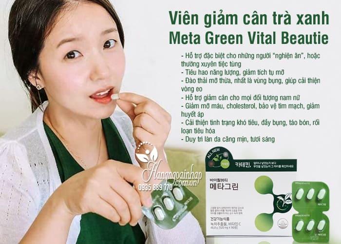 Viên giảm cân trà xanh Meta Green Vital Beautie Hàn Quốc 3