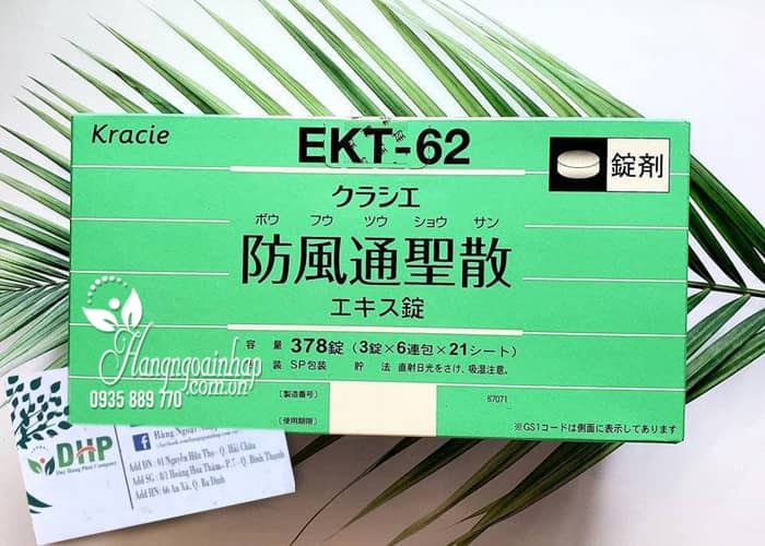 Viên tiêu mỡ Hofutsu Shousan Kracie EKT 62 Nhật, 378 viên 6
