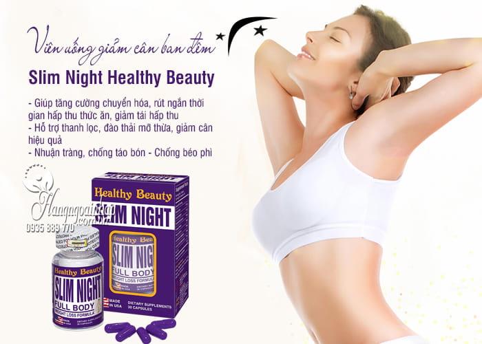 Viên uống giảm cân ban đêm Slim Night Healthy Beauty 30 viên 7