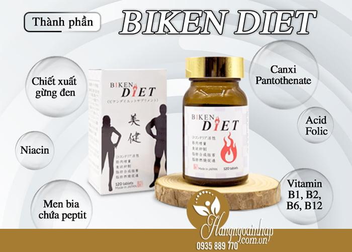 Viên uống giảm cân Biken Diet 120 viên của Nhật Bản 3