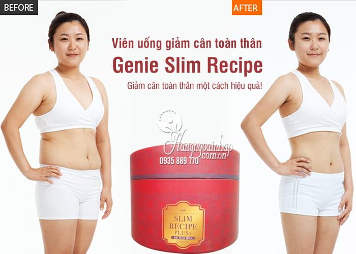 Viên uống giảm cân toàn thân Genie Slim Recipe 30 gói Hàn Quốc 1