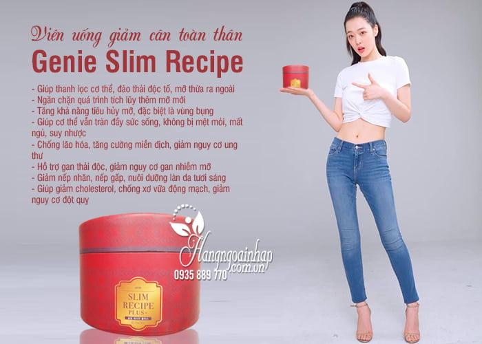 Viên uống giảm cân toàn thân Genie Slim Recipe 30 gói Hàn Quốc 2