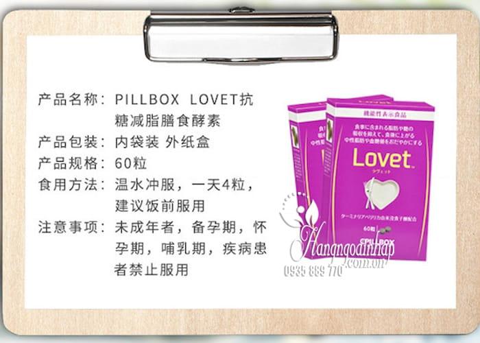 Viên uống giảm cân Lovet Pillbox 60 viên Nhật Bản 3
