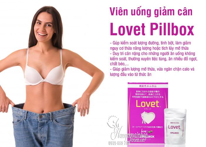 Viên uống giảm cân Lovet Pillbox 60 viên Nhật Bản 2