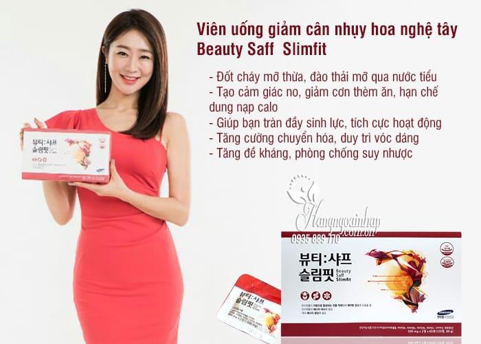Viên uống giảm cân nhụy hoa nghệ tây Beauty Saff Slimfit Hàn Quốc 2