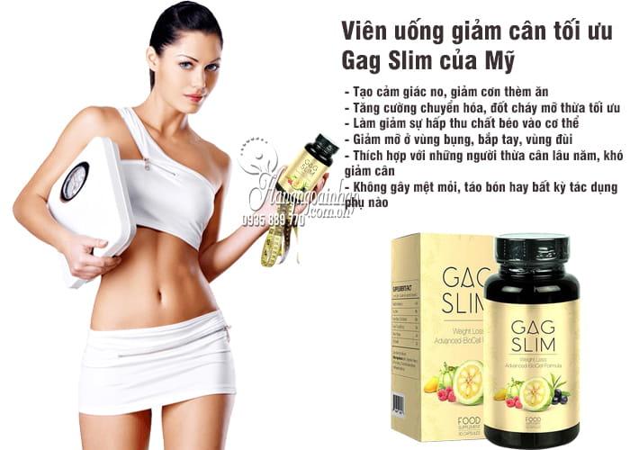 Viên uống giảm cân tối ưu Gag Slim của Mỹ, hiệu quả nhất 3