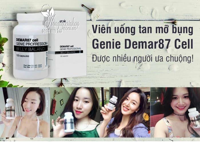 Viên uống tan mỡ bụng Genie Demar87 Cell Hàn Quốc 130 viên 4