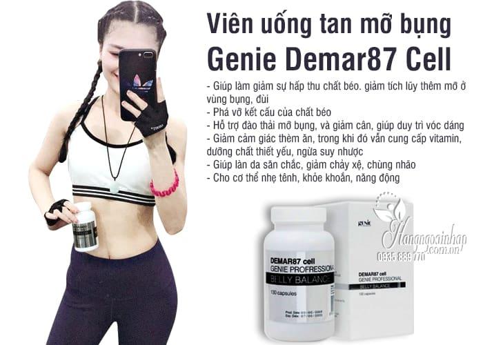 Viên uống tan mỡ bụng Genie Demar87 Cell Hàn Quốc 130 viên 6