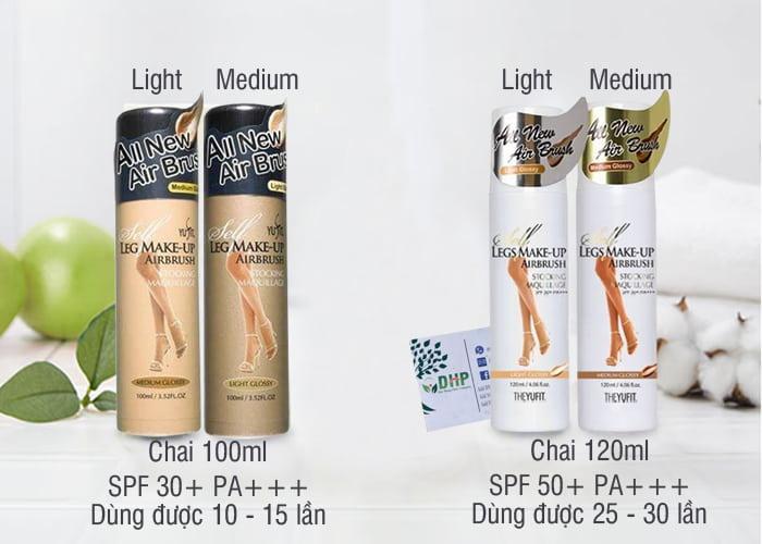 Tất phun chân Yufit Air Brush Legs Make-up của Hàn Quốc 1