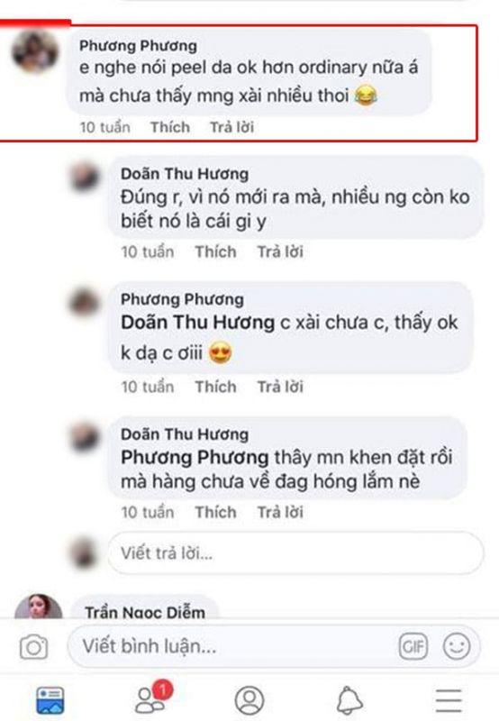 eview một số nhận xét của khách hàng trên facebook