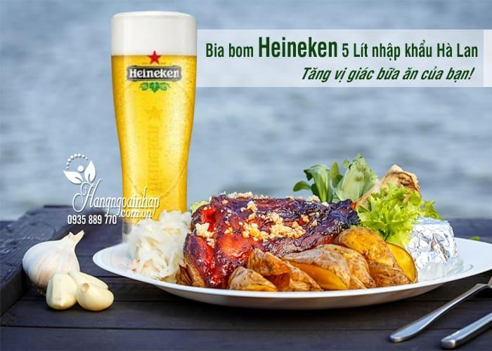 Bia bom Heineken 5 Lít nhập khẩu Hà Lan giá siêu rẻ 4