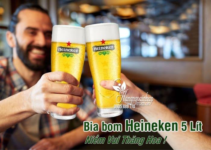 Bia bom Heineken 5 Lít nhập khẩu Hà Lan giá siêu rẻ 1