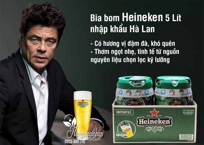 Bia bom Heineken 5 Lít nhập khẩu Hà Lan giá siêu rẻ 3