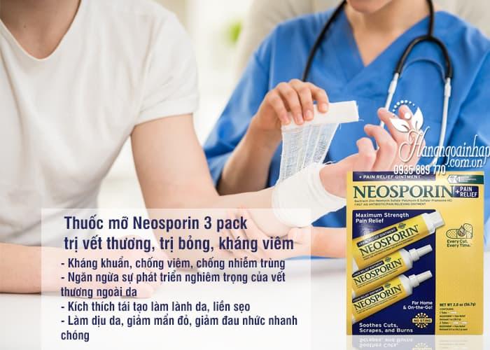 Thuốc mỡ Neosporin 3 pack trị vết thương, trị bỏng, kháng viêm 5