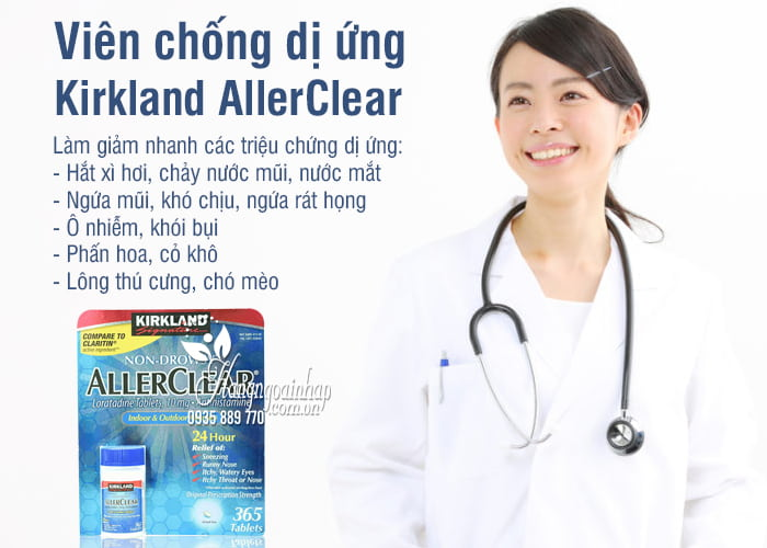 Viên chống dị ứng Kirkland AllerClear 365 viên Mỹ  2