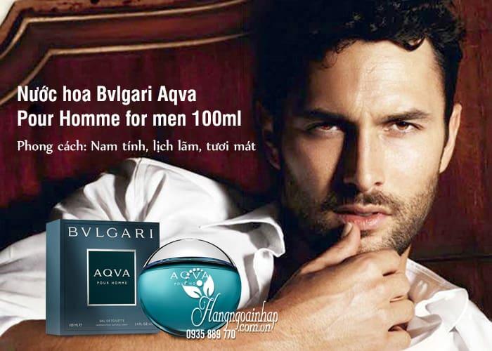 Nước hoa Bvlgari Aqva Pour Homme for men 100ml của Ý  34