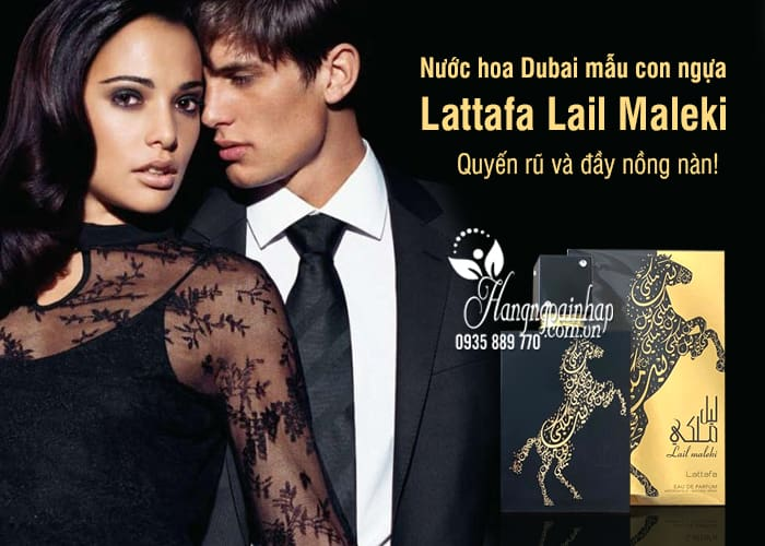 Nước hoa Dubai mẫu con ngựa Lattafa Lail Maleki chai 100ml 1