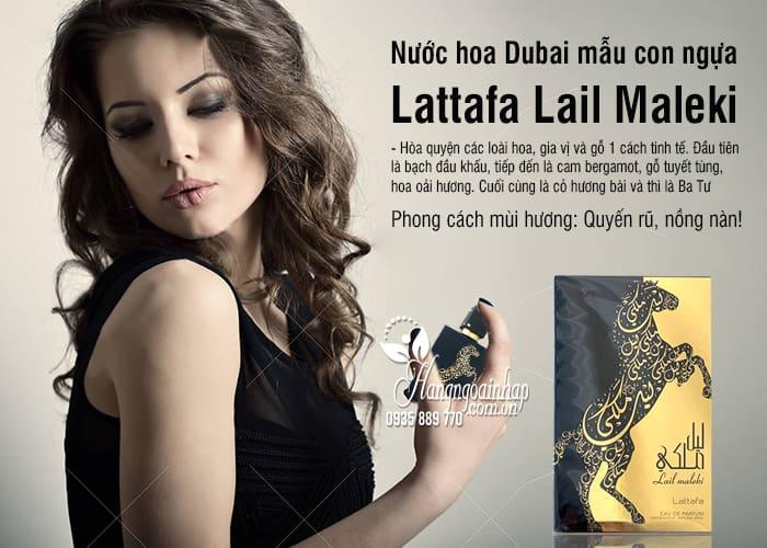 Nước hoa Dubai mẫu con ngựa Lattafa Lail Maleki chai 100ml 3