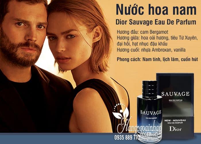 Nước hoa nam Dior Sauvage Eau De Parfum chai 100ml của Pháp 2