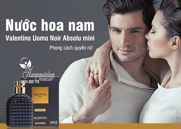 Nước hoa nam Valentino Uomo Noir Absolu mini 4ml 1