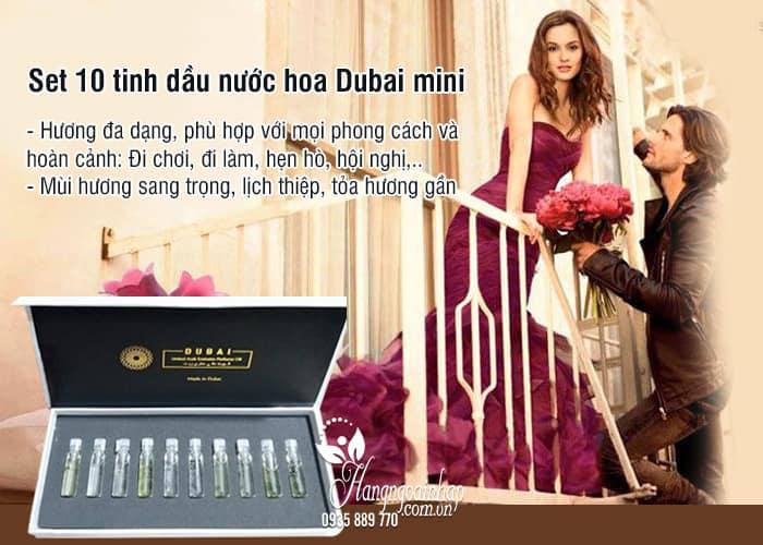 Set 10 tinh dầu nước hoa Dubai mini chính hãng 4