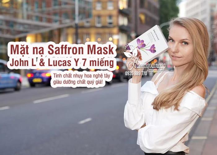 Mặt nạ Saffron Mask John L & Lucas Y 7 miếng của Anh Quốc 5