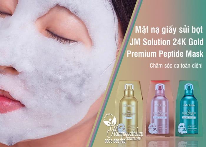 Mặt nạ giấy sủi bọt JM Solution 24K Gold Premium Peptide Mask 8