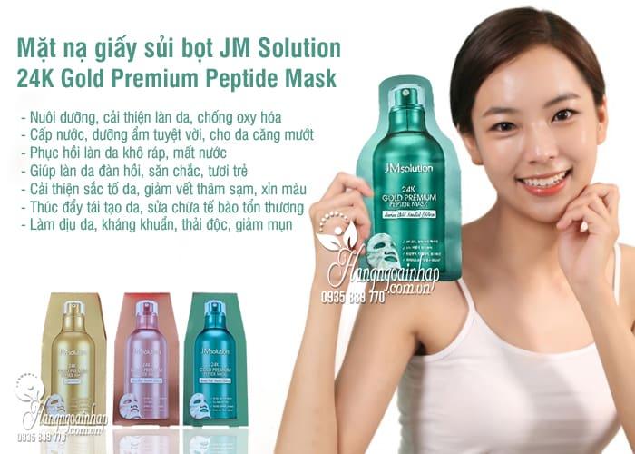 Mặt nạ giấy sủi bọt JM Solution 24K Gold Premium Peptide Mask 1