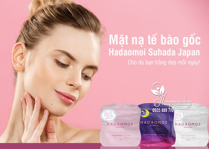Mặt nạ tế bào gốc Hadaomoi Suhada Japan 30 miếng của Nhật Bản 8