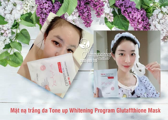 Mặt nạ trắng da Tone up Whitening Program Glutathione Mask 3