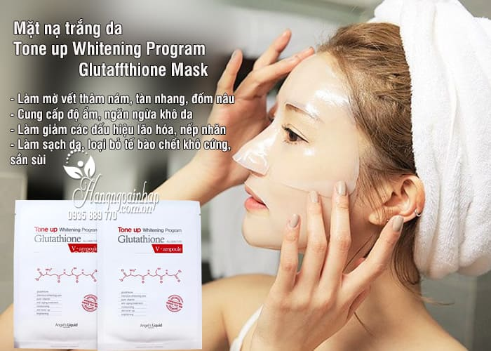 Mặt nạ trắng da Tone up Whitening Program Glutathione Mask 1