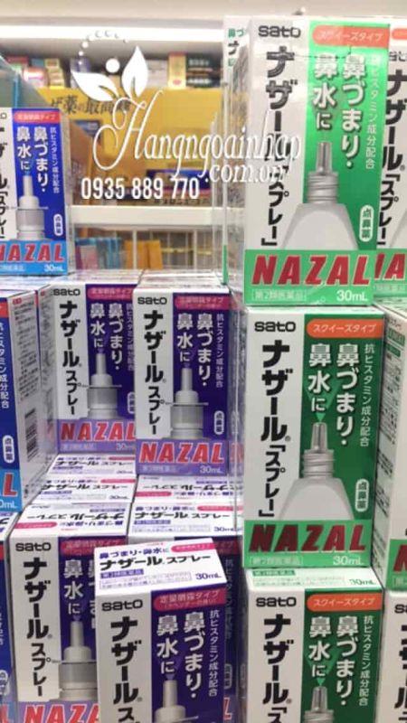 Thuốc xịt mũi Nazal của Nhật, trị sổ mũi ngạt mũi, viêm xoang  6