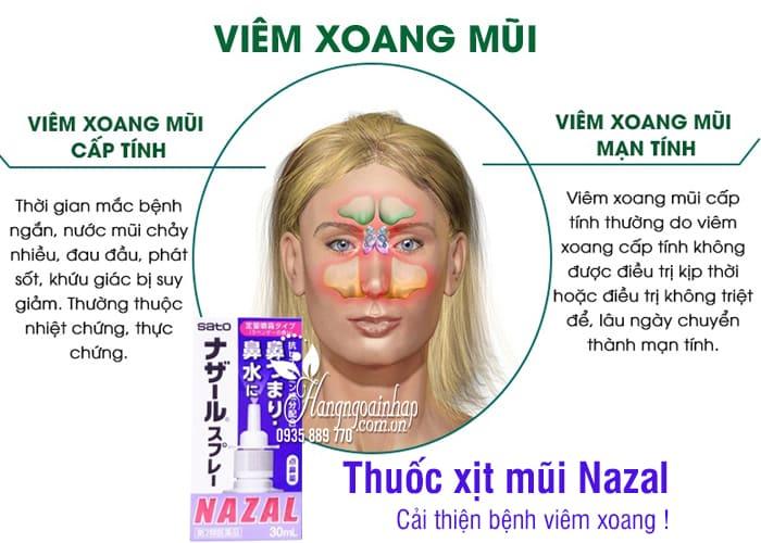 Thuốc xịt mũi Nazal của Nhật, trị sổ mũi ngạt mũi, viêm xoang 3