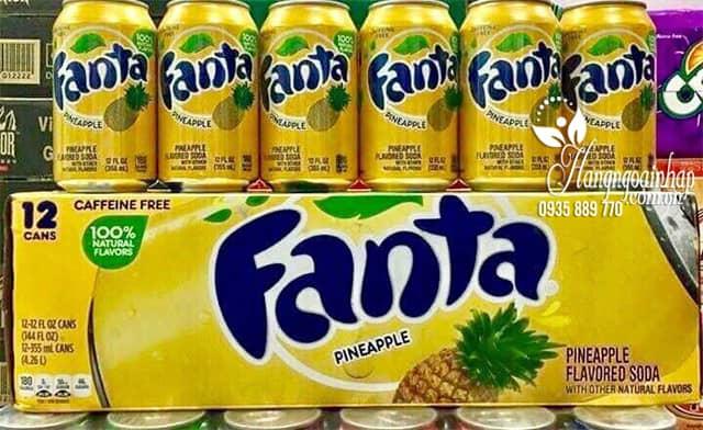 Nước ngọt Fanta vị dứa thùng 12 lon của Mỹ - Tết 2020 7