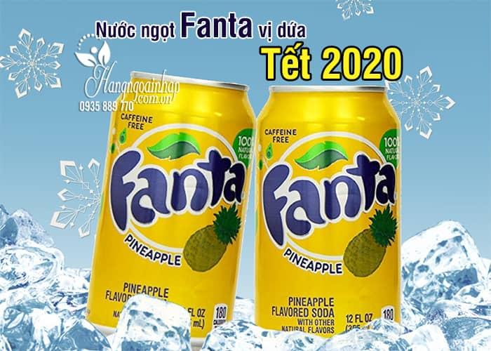 Nước ngọt Fanta vị dứa thùng 12 lon của Mỹ - Tết 2020 1