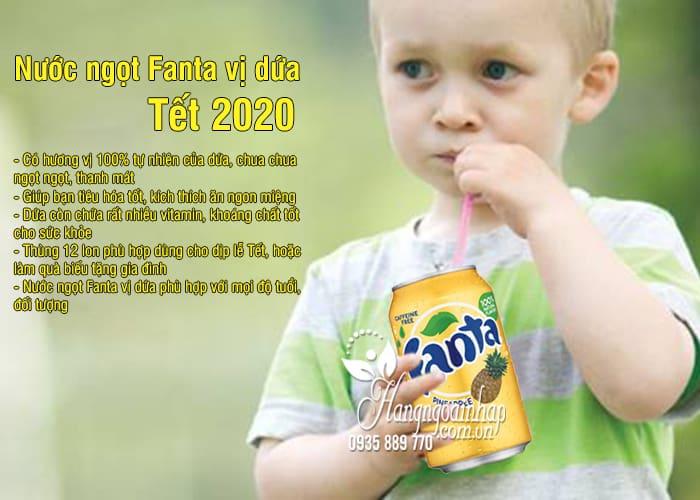 Nước ngọt Fanta vị dứa thùng 12 lon của Mỹ - Tết 2020 2