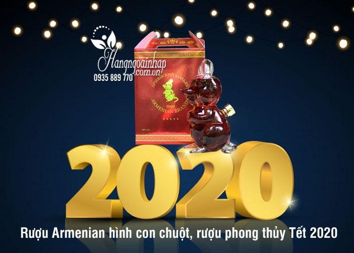 Rượu Armenian hình con chuột, rượu phong thủy Tết 2020 6