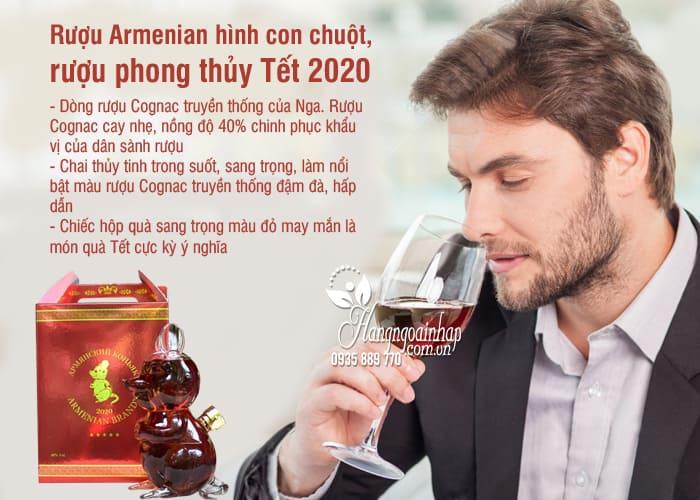 Rượu Armenian hình con chuột, rượu phong thủy Tết 2020 2