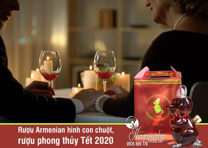 Rượu Armenian hình con chuột, rượu phong thủy Tết 2020 4