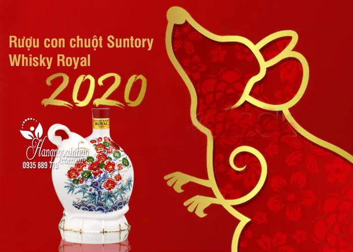 Rượu con chuột Suntory Whisky Royal 2020, rượu chuột Nhật 2