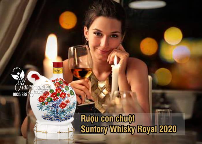 Rượu con chuột Suntory Whisky Royal 2020, rượu chuột Nhật 0