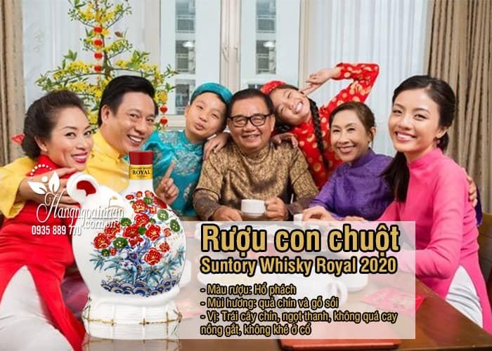 Rượu con chuột Suntory Whisky Royal 2020, rượu chuột Nhật 6