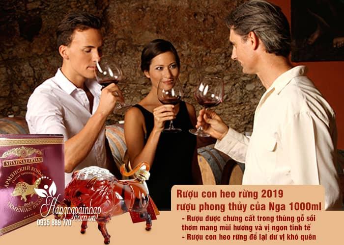 Rượu con heo rừng 2019 Nga - Rượu phong thủy sang trọng 1