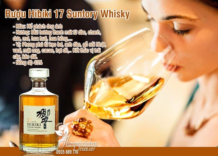 Rượu Hibiki 17 Suntory Whisky Nhật Bản chai 700ml 6
