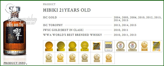 Rượu Hibiki 21 năm Nhật Bản, Hibiki 21 Suntory Whisky 700ml 1
