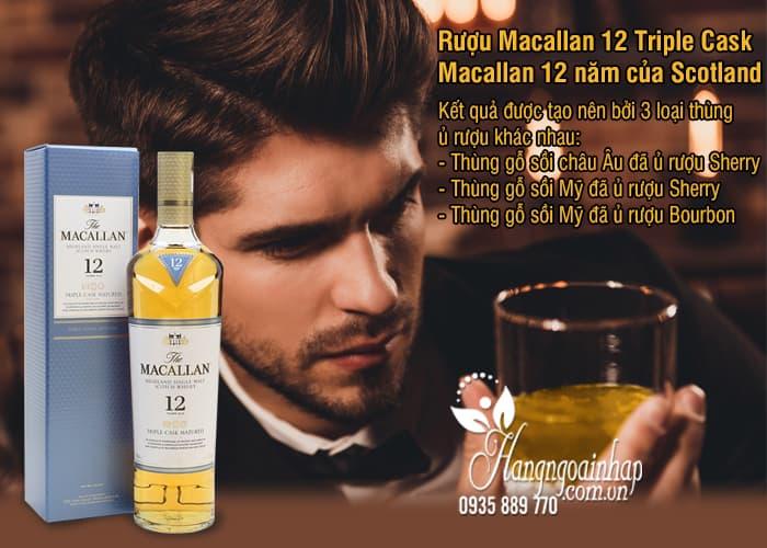 Rượu Macallan 12 Triple Cask, Macallan 12 năm của Scotland 700ml 2